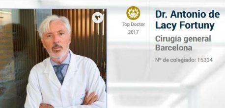 Dr. Antonio de Lacy. Top Doctors Awards 2017