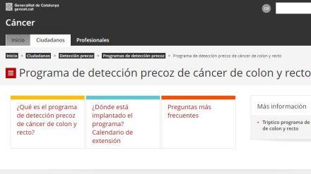 Programa de detección precoz de cáncer de colon y recto