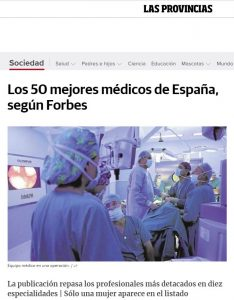2017-12-17.Las provincias. Los 50 mejores médicos de España, según Forbes