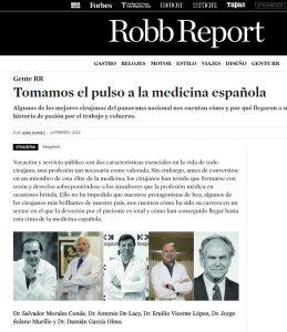 2018-02-16. Robb Report. Los mejores cirujanos de España