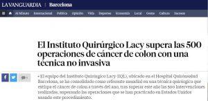 2018-07-16. La Vanguardia. El equipo del IQL supera las 500 intervenciones de TaTME