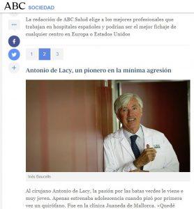 2015-01-19. ABC. Los mejores cirujanos españoles
