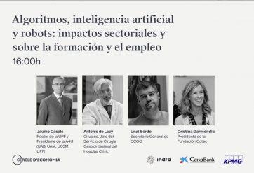 ALGORITMOS, INTELIGENCIA ARTIFICIAL Y ROBOTS, impactos sectoriales y sobre la formación y el empleo Cartel
