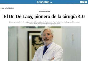 2019-14-01. Con Salud. El Dr. de Lacy pionero de la cirugía 4.0