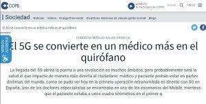 2019-02-27. COPE. El 5G se convierte en un médico más en el quirófano