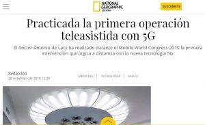 2019-02-28. National Geographic. Practicada la primera operación teleasistida con 5G