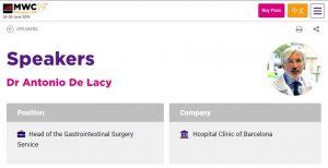 2019-05-27. MWC19. Dr. de Lacy Cirugía 5G