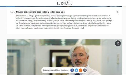 El Dr. Antonio de Lacy entre los 6 mejores cirujanos de España según el ranking de El Español de 2019.