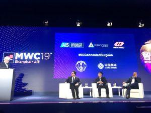 2019-06-28. MWC de Shanghai 2019. Dr. Antonio de Lacy. Primera cirugía teleasistida 5G en Asia 07